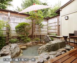 お部屋の露天  風呂(一例)